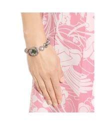 Miu Miu - Pink Crystal-embellished Bracelet - Lyst