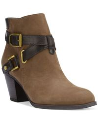 Franco Sarto | Brown Delight Booties | Lyst