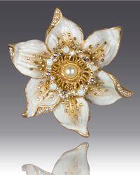 Jay Strongwater - Metallic Daffodil Pin - Lyst
