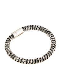Carolina Bucci | Black Metallic Twister Bracelet Silver | Lyst