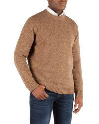Gibson | Natural Crew Neck Donegal Fleck for Men | Lyst