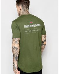 Good For Nothing - Green T-shirt With Back Print Exclusive To Asos for Men - Lyst