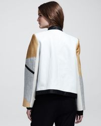 Helmut Lang - Natural Boxy Segment Suiting Jacket Petite - Lyst