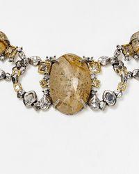 "Alexis Bittar - Metallic Mosaic Link Collar Necklace, 15"" - Lyst"