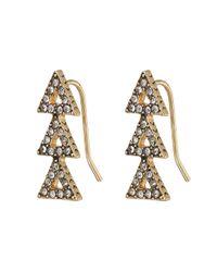 House of Harlow 1960 - Metallic Tessellation Earrings - Lyst