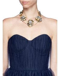 Erickson Beamon | White 'stratosphere' Crystal Faux Pearl Cluster Necklace | Lyst
