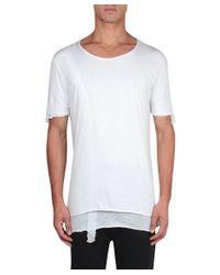 Thom Krom - White Cotton T-shirt for Men - Lyst