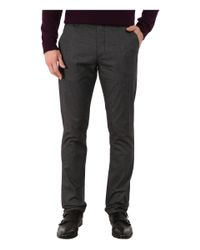 Ted Baker | Gray Lommy Classic Fit Brushed Cotton Trousers for Men | Lyst