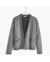 Madewell | Black Two-tone Cocoon Cardigan Sweater | Lyst