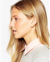 ALDO - Natural Nassi Throu & Throu Faux Pearl Stud Earrings - Lyst