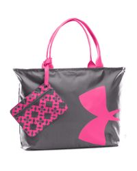 Under Armour   Gray Oversized Logo Tote   Lyst