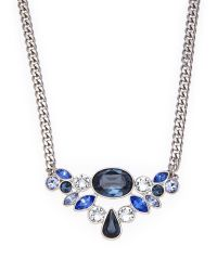 Givenchy | Silver-Tone & Blue Accented Necklace | Lyst