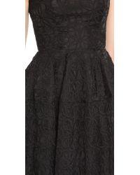 Nicholas - Lace Midi Ball Dress - Black - Lyst