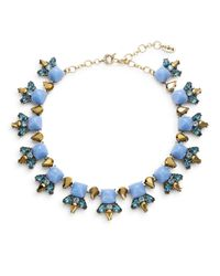 Cara | Blue Pyramid Cabochon Collar Necklace | Lyst