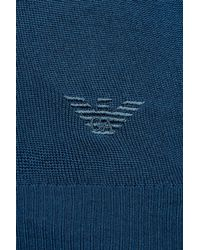 Emporio Armani - Blue Jumper In Shaved Wool for Men - Lyst