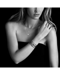 David Yurman - Metallic Cable Collectibles Ribbon Bracelet with Diamonds - Lyst