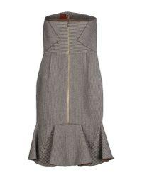 Roland Mouret - Gray Short Dress - Lyst