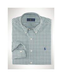 Polo Ralph Lauren | Green Tattersall Poplin Sport Shirt for Men | Lyst