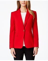 Tahari - Red One-button Ponte Blazer - Lyst