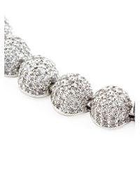 Eddie Borgo - Metallic Pavé Crystal Dome Bracelet - Lyst