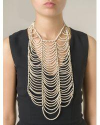 Brunello Cucinelli - White Oversize Beaded Necklace - Lyst