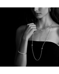 David Yurman - Metallic Crossover Medium Hoop Earrings With Diamonds - Lyst