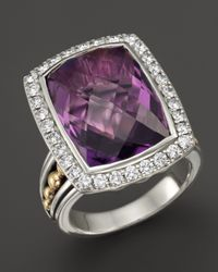 Lagos | Purple 18K Gold And Sterling Silver Prism Amethyst Statement Ring With Diamonds | Lyst