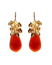 Kastur Jewels | Metallic Red Onyx Drop Earrings | Lyst