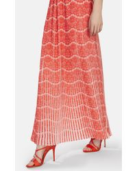 Karen Millen | Natural Pleated Maxi Dress | Lyst