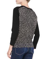 Tory Burch - Black Shia Solid-sleeve Knit Sweater - Lyst