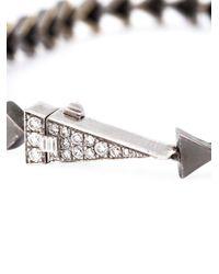 Nikos Koulis - Metallic Triangle Spiked Diamond Bracelet - Lyst
