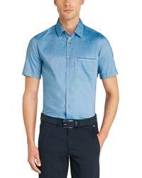 BOSS Green | Blue 'byolo' | Regular Fit, Cotton Oxford Button Down Shirt for Men | Lyst