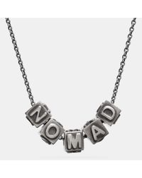COACH - Metallic Nomad Block Letters Necklace - Lyst