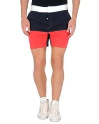 Band of Outsiders | Blue Sweat Shorts for Men | Lyst