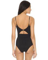 Zimmermann | Black Marisol Bonded Peak Wire Swimsuit - Noir | Lyst
