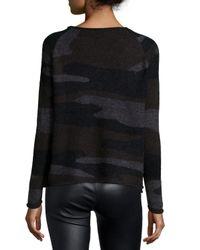 Townsen Black Long-sleeve Camouflage Sweater