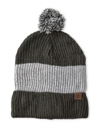 Timberland - Green Color Block Knit Pom-Pom Slouchy Beanie for Men - Lyst
