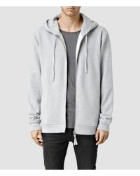 AllSaints | Gray Metta Hoody for Men | Lyst