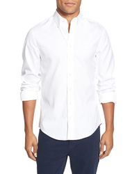 GANT | White 'the Pinpoint Oxford' Trim Fit Long Sleeve Sport Shirt for Men | Lyst