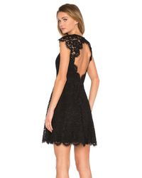 kate spade new york | Black Rose Lace Mini Dress | Lyst