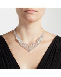 John Lewis - Metallic Statement Diamante Layered Necklace - Lyst