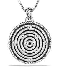 David Yurman - Metallic Labyrinth Large Disc Pendant - Lyst