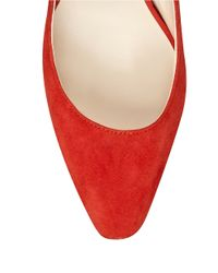 Nine West | Red Cardio Suede Point Toe Pumps | Lyst