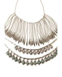 Forever 21 - Metallic Mixed Pendant Necklace Set - Lyst