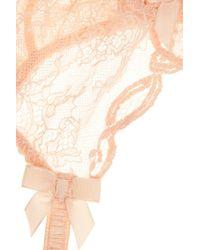 Agent Provocateur - Orange Love Lace Suspender Belt - Lyst