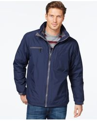 Izod | Blue Fleece-lined Windbreaker Jacket for Men | Lyst