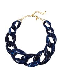 Kenneth Jay Lane - Blue Resin Chainlink Necklace - Lyst