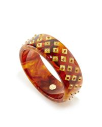 Mark Davis | Multicolor Spessartite Garnet Bakelite Bangle | Lyst