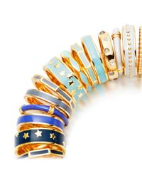Astley Clarke | Blue Sea Shell Beaded Enamel Ring | Lyst
