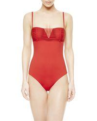 La Perla | Red Padded Swimsuit | Lyst